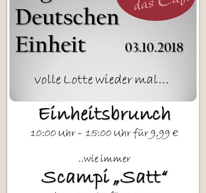 """Einheitsbrunch 2018 & Scampi """"satt"""""""
